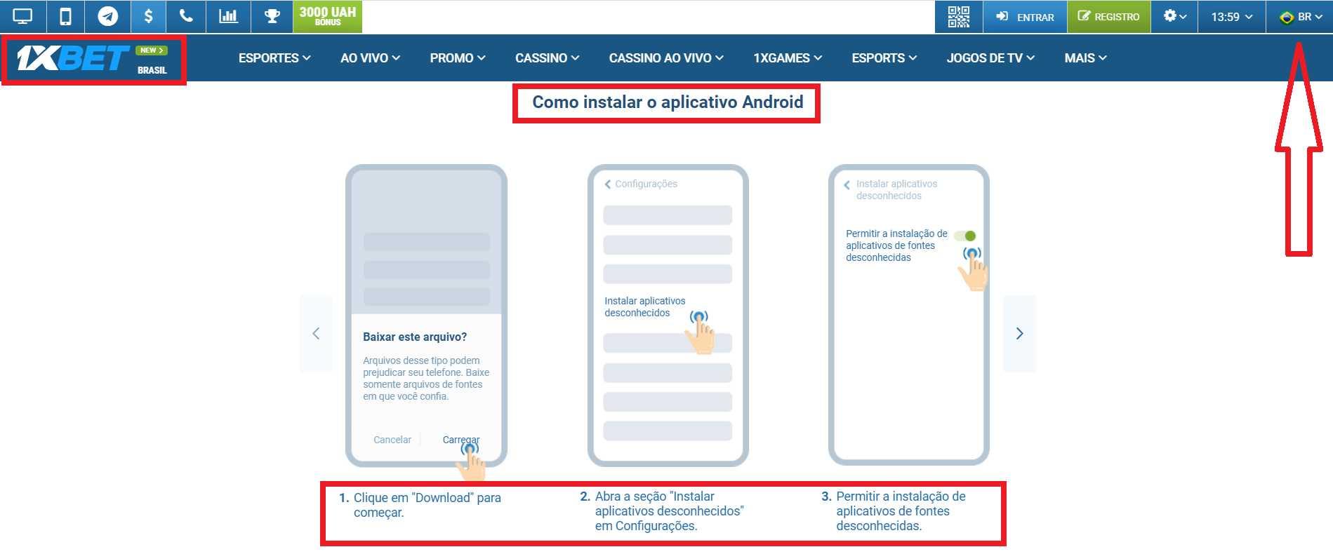Vantagens 1xBet app para Brasil